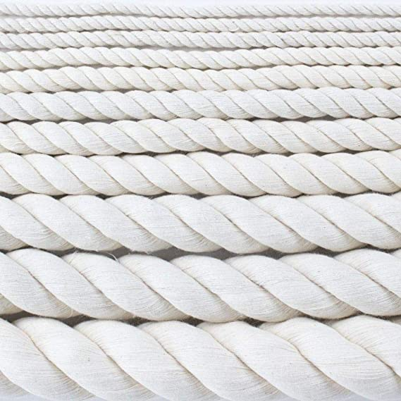 No Bleach or Dyes Commercial SGT KNOTS Twisted Cotton Rope 1//2 inch All Natural Biodegradable Cord High Strength Low Stretch Crafts Indoor//Outdoor 10 feet DIY Projects Pet Toys