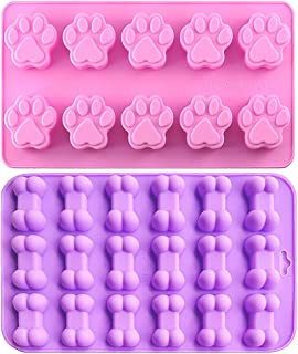 Food Grade Silicone Mold, IHUIXINHE Non-Stick Ice Cube Mold, Jelly, Biscuits, Chocolate, Candy, Cupcake Baking Mould, Muffin pan
