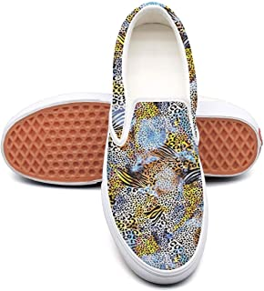 Leopard cheetah print Zebra pattern Gray blue Tennis Shoes for Women Fashion Highly Breathable Running Shoes