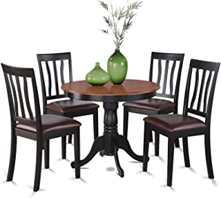 ANTI5-BLK-LC 5 PC Kitchen nook Dining set-small Table as well as 4 Kitchen Dining Chairs