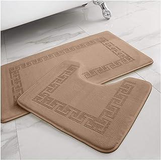 Gaveno Cavailia Lot de 2 Tapis de Bain Luxueux Doux et Confortable à mémoire de Forme - en Polyester Ultra Absorbant - 50 ...