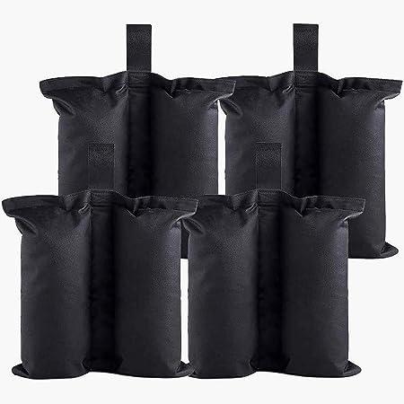 FENRIR Sacchi di Pesi per Gazebo,4 Pezzi Pesi per Gambe,Peso Gazebo per Tenda Pop Up,Gazebo,Ombrellone,Tende Padiglione