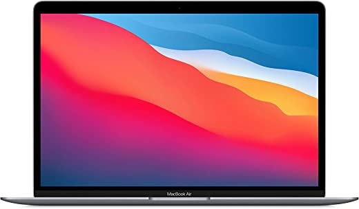 """2020 Apple MacBook Air Laptop: Apple M1 Chip, 13"""" Retina Display, 8GB RAM, 256GB SSD Storage, Backlit Keyboard, FaceTime HD Camera, Touch ID. Works with iPhone/iPad; Space Gray"""