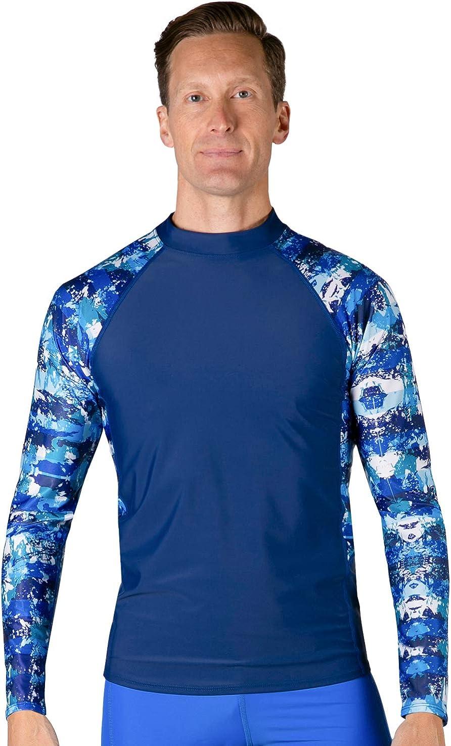 Tuga Men's Swim Performance Rash Guard, UPF 50+ Sun Protection