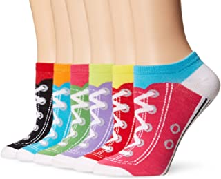 K. Bell Women's 6 Pack Novelty No Show Low Cut Socks
