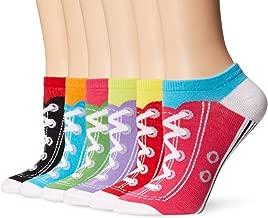 K. Bell Women's 6 Pack Novelty No Show Low Cut Socks