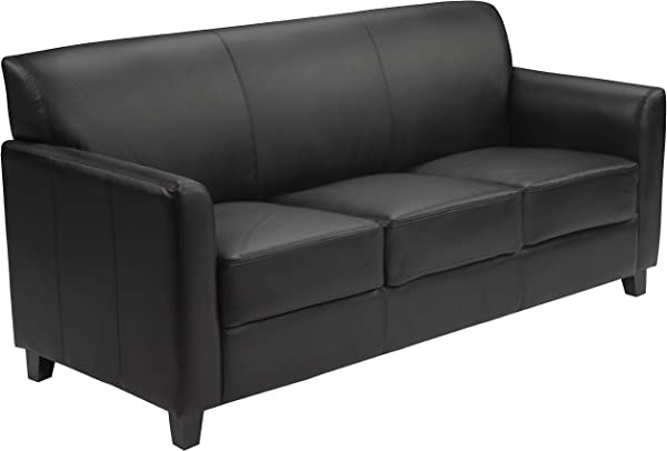 Flash Furniture HERCULES Diplomat Series Black Leather Sofa