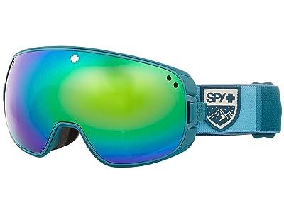 Spy Optic Bravo (Colorblock Teal Hd Plus Bronze w/ Green Spectra Mirror + Hd Pl) Snow Goggles