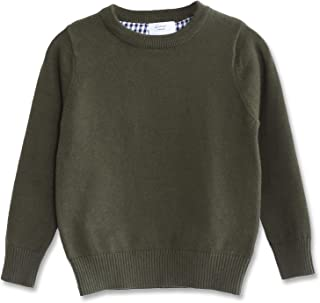 CUNYI Boys' Long Sleeve Crew Neck Cotton Pullover Knit Sweater