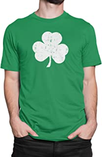 USA Screen Printed Retro Green Irish Distressed Shamrock T-Shirt St Patricks Day Mens Ireland Pride Tee Shirt