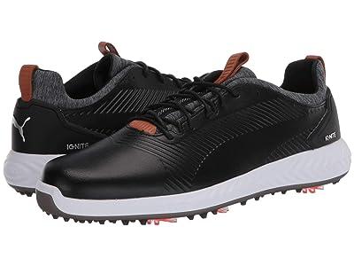 PUMA Golf Ignite PwrAdapt Leather 2.0 (Puma Black/Puma Black) Men