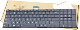 Eathtek Replacement Keyboard NO Frame for Toshiba Satellite C50-A C55-A C50D-A C55D-A C55T-A C55DT-A C55D-A5304 Series Black US Layout, Compatible Part Number V000320330(Not fit for C50-B Laptop)