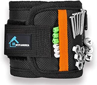 Magnetic Wristband for 15 Super Strong Magnets, Magnetic Wrist Band Tool Belt With Super Strong Magnets for Holding Screws,Nails,Drill Bits(Valentine's Day Gift Tool Band for Him,Handyman,Husband,Guys