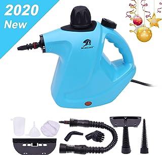 Limpiador de vapor presurizado de mano MLMLANT, 450ml 1050W y 9 Accesorios,Vaporeta Portátil y Manual de Alta Presión