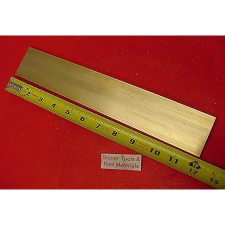 0.190 x 1.5 x 12 Online Metal Supply C360 Brass Rectangle Bar