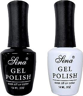 Duo Pack Gel Polish Colours Sina - Black + White
