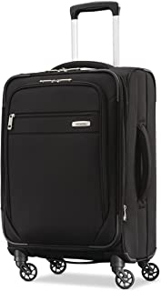 Samsonite Advena Softside Expandable Luggage with Spinner Wheels, Black, Carry-On 20-Inch