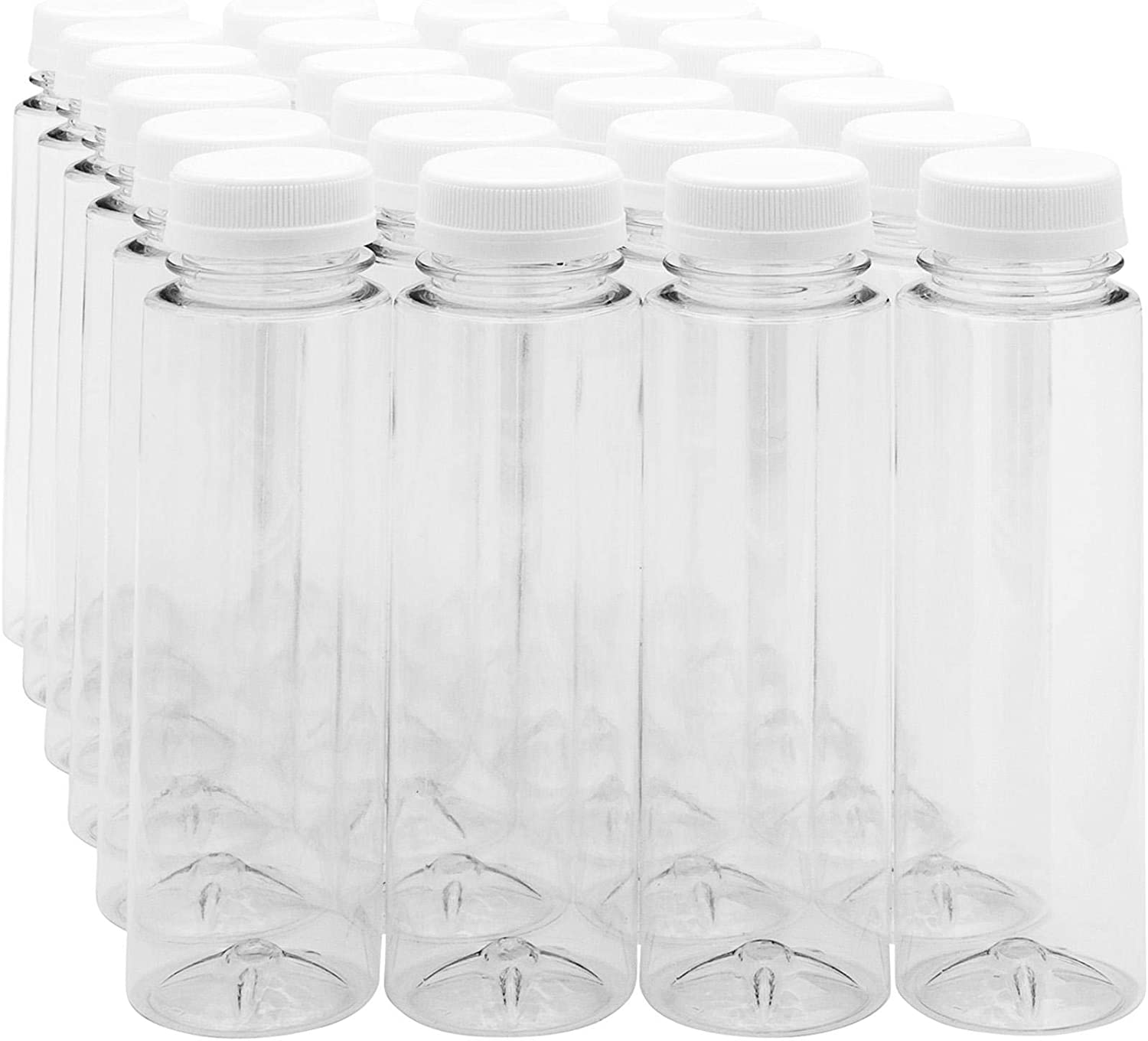 8-OZ Cylindrical Plastic Juice Bottles - Clear Cold Food Pressed San Ranking TOP9 Jose Mall