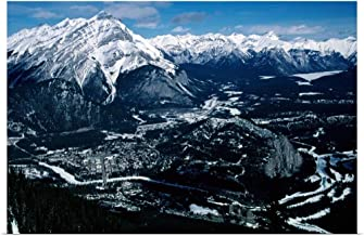 GREATBIGCANVAS Poster Print Cascade Mountain and The Historic Banff Springs Hotel from Sulphur Mountain in Banff by 48