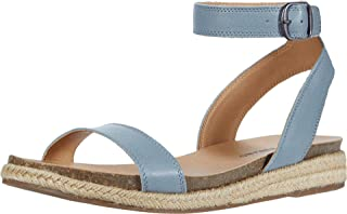 Lucky Brand Women's GARSTON Flat Sandal, Lead, 6