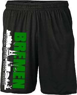 Bremen Skyline Shorts | Fussball Sport Sommer Ultras Kurze Hose Sporthose