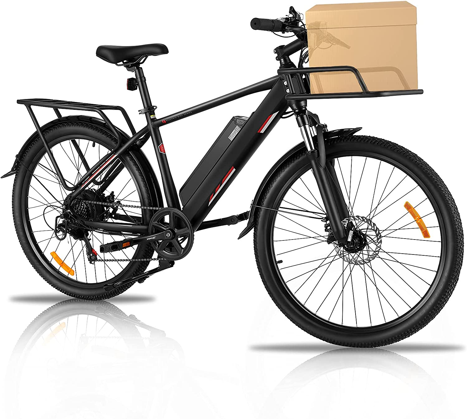 Electric Bike Adults Mountain OFFicial store 26'' Store Commut