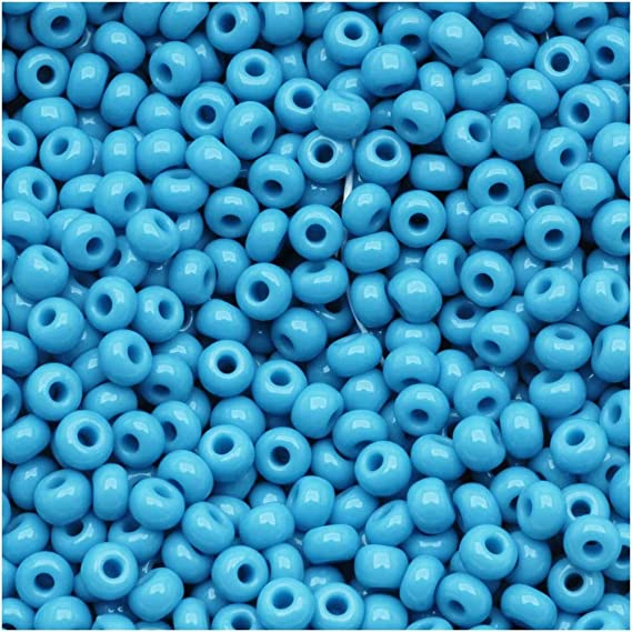 Hanks 120 Vintage Aqua Blue Opaque Luster Czech Seed Beads 1.9 mm Rocailles Options: 6 strands 68050.