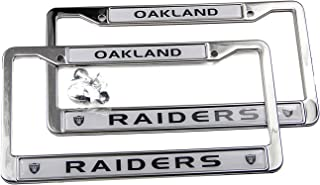MT-Sports Football Team Logo 2 Pcs Car Licenses Plate Frames 2 Holes Stainless Steel