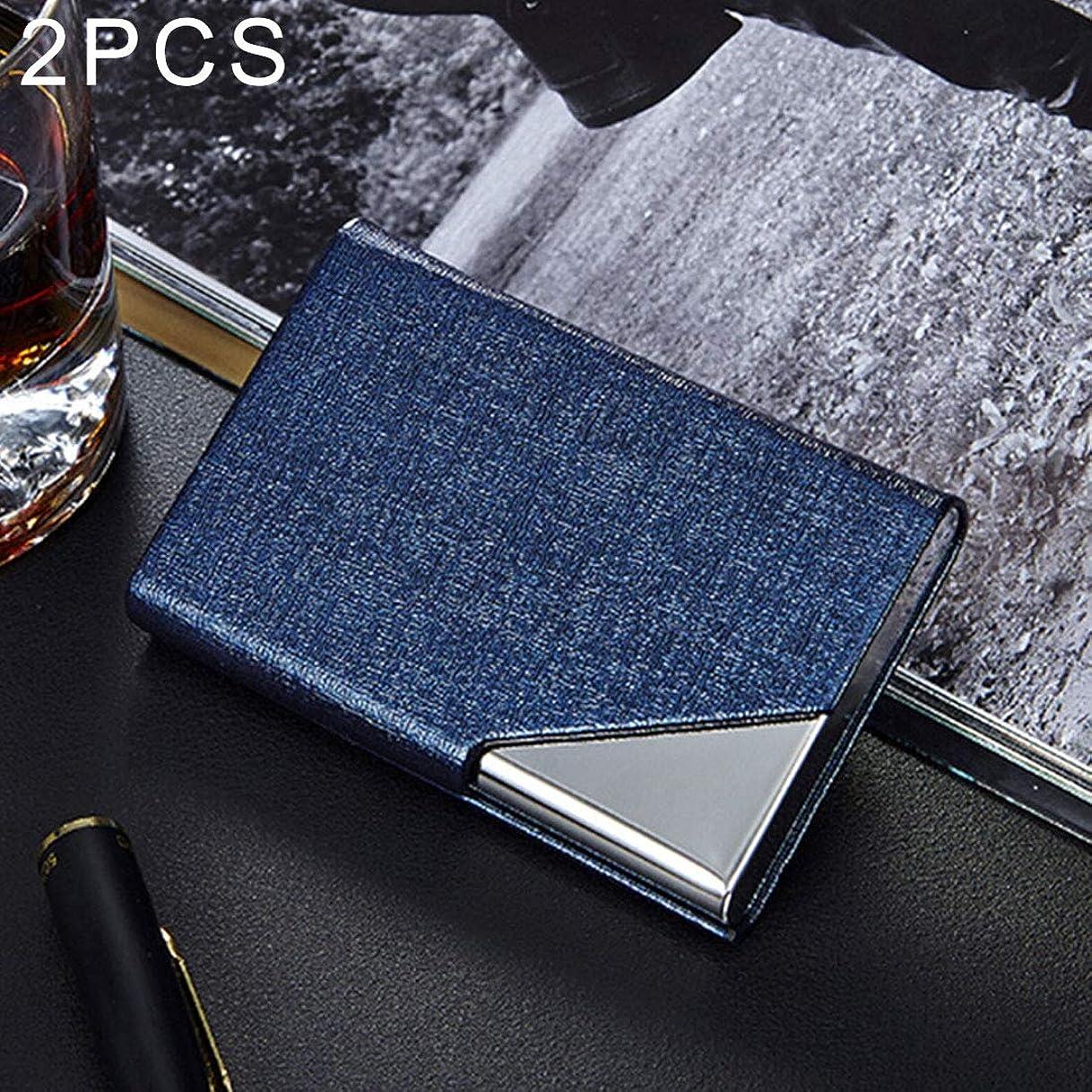 拾う付き添い人地震Office Supplies 2 PCS Oracleボーンテクスチャ名刺ホルダー財布クレジットカードIDケースホルダー、ランダムカラー