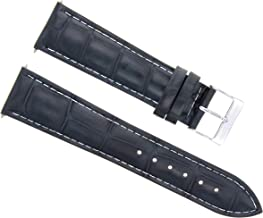 19MM NEW LEATHER WATCH STRAP BAND FOR 40MM CARTIER ROADSTER 3312 DARK BLUE WS