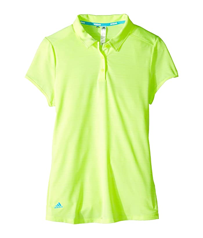 adidas Golf Kids  Microdot Novelty Short Sleeve Polo (Big Kids) (Hi-Res Yellow) Girls Clothing