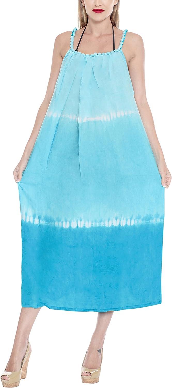 LA LEELA Womens Sleeveless Soft Nightgown Lingerie Wide Strap Tank Sleep Dress