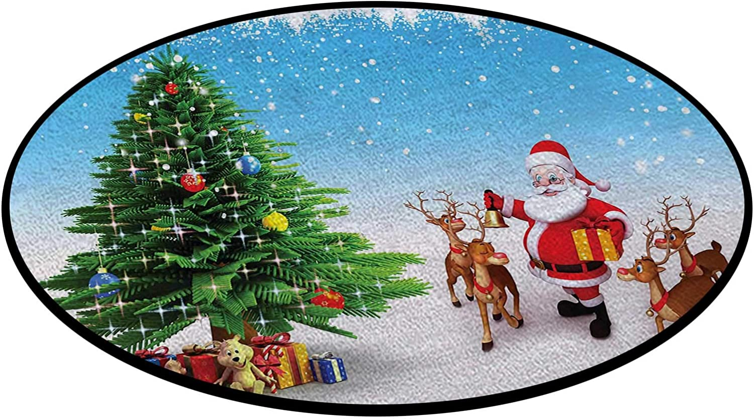Jingle Bells Tree Office Swivel Chair Non-Slip Ba Throw Rugs Max 81% OFF Mat Challenge the lowest price of Japan