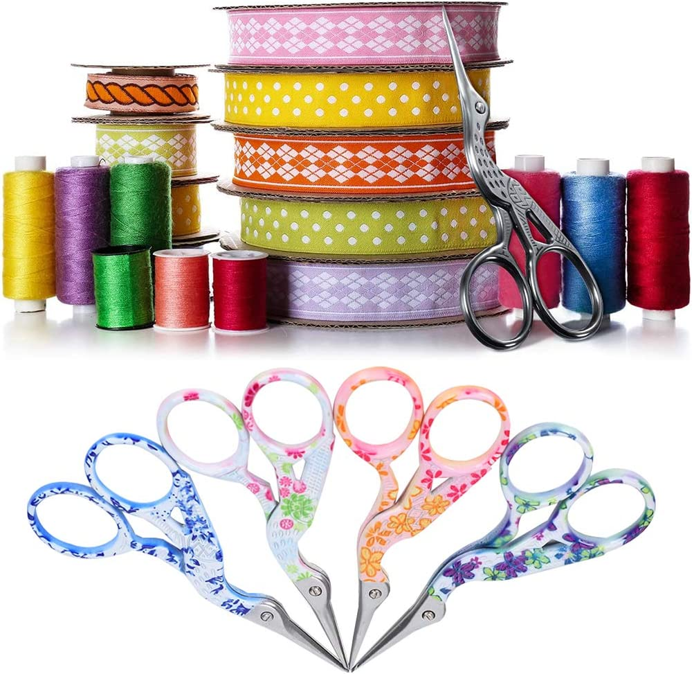 Durable 4pcs Crane‑Shaped Scissors Favorites Emb Indefinitely Tailor Branded goods Sewing