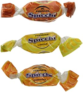 Perugina Sorrento Spicchi Hard Candies (1lb Bag Includes Tangerine, Lemon, and Orange Flavors)