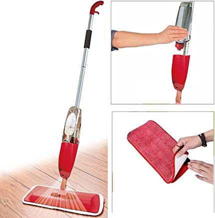 ORPIO (LABEL) Multifunctional Stainless Steel Microfiber Floor Cleaning Healthy Spray Mop with Removable Washable Cleaning Pad and Integrated Water Spray Mechanism