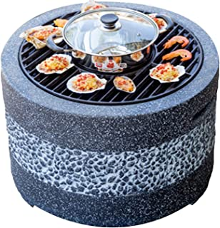 Outdoor Fire Pit Imitation Stone BBQ Grill Kit, Backyard Patio Garden Fireplace, For Camping Outdoor Heating Campfire And ...