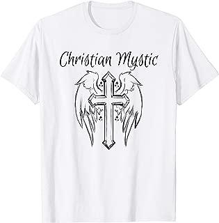 Christian Mystic Tshirt Angel Cross Shirt Psychic Gift Tee