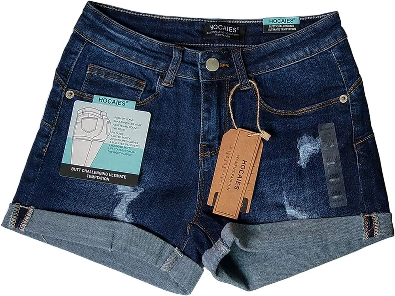 Hocaies Juniors Denim Shorts Womens Distressed Denim Pants Jeans Shorts for Women