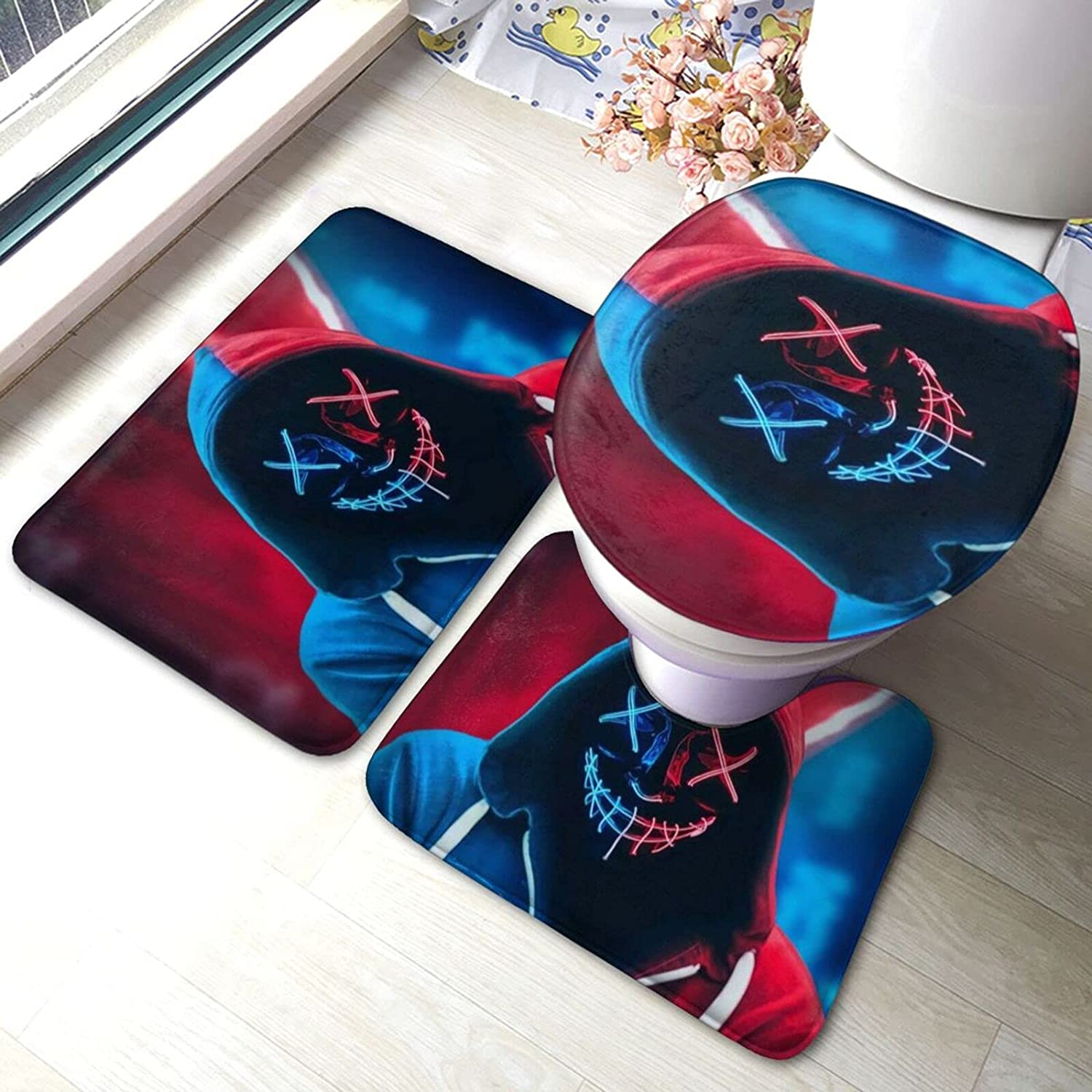 Neon Boy Bath Mat 3 Piece To Pads Contour Popular brand in the world + Set Anti-Skid Beauty products