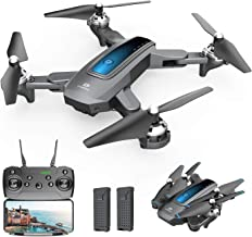 DEERC D10 Foldable Drone with Camera for Adults 720P HD FPV Live Video, Tap Flying, Gesture...