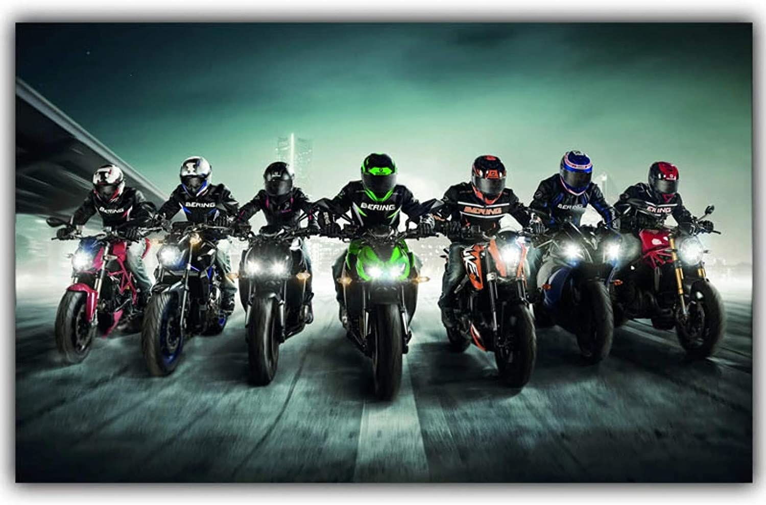 MDKAZ Canvas Wall Art Painting Dec Super beauty product restock quality top! Poster Detroit Mall Racing Home Motorcycle