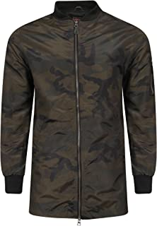 Tokyo Laundry Men's Wilton Longline Zip Up Camouflage Bomber Jacket Size S-XXL