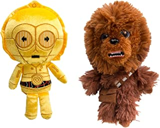 Star Wars Chewbacca and C3PO Funko (Set of 2) Galactic Plushies Cute Stuffed Animals Toys for Kids and Adults