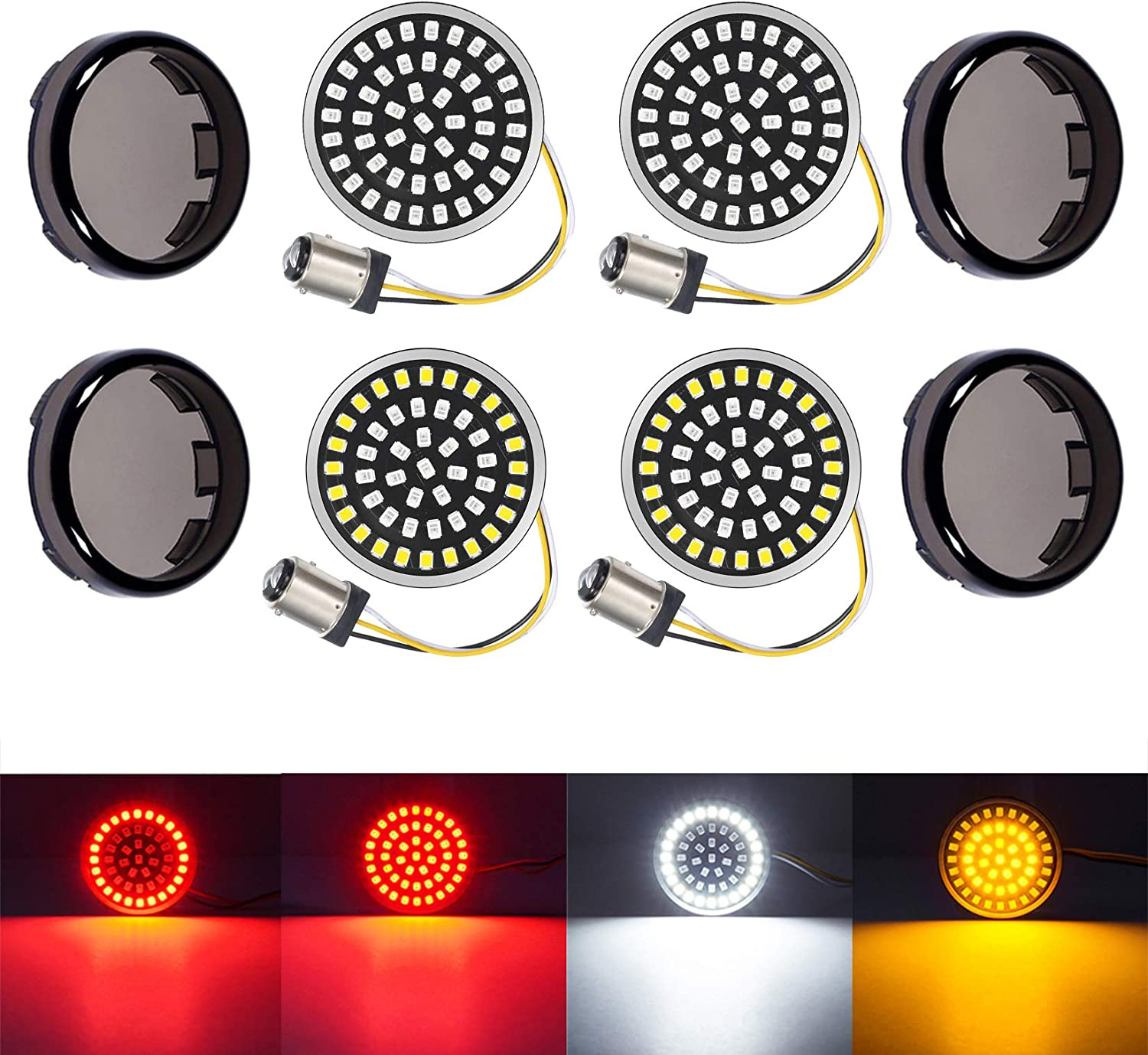 PBYMT 1157 Front Rear Turn Signal Light Smoke Max 56% OFF L LED Bulb Ranking TOP9 SMD Kit
