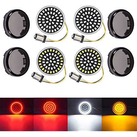 PBYMT 2 Bullet 1157 Turn Signal Light LED SMD Bulb Front Rear Light Compatible for Harley Sportster Softail Touring Street Glide Road King 1986-2020