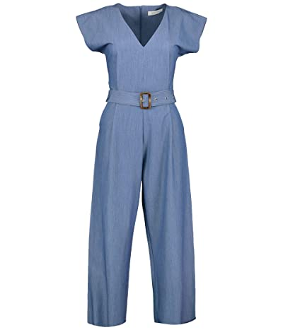 Bishop + Young Jesse Belted Jumpsuit (Blue) Women