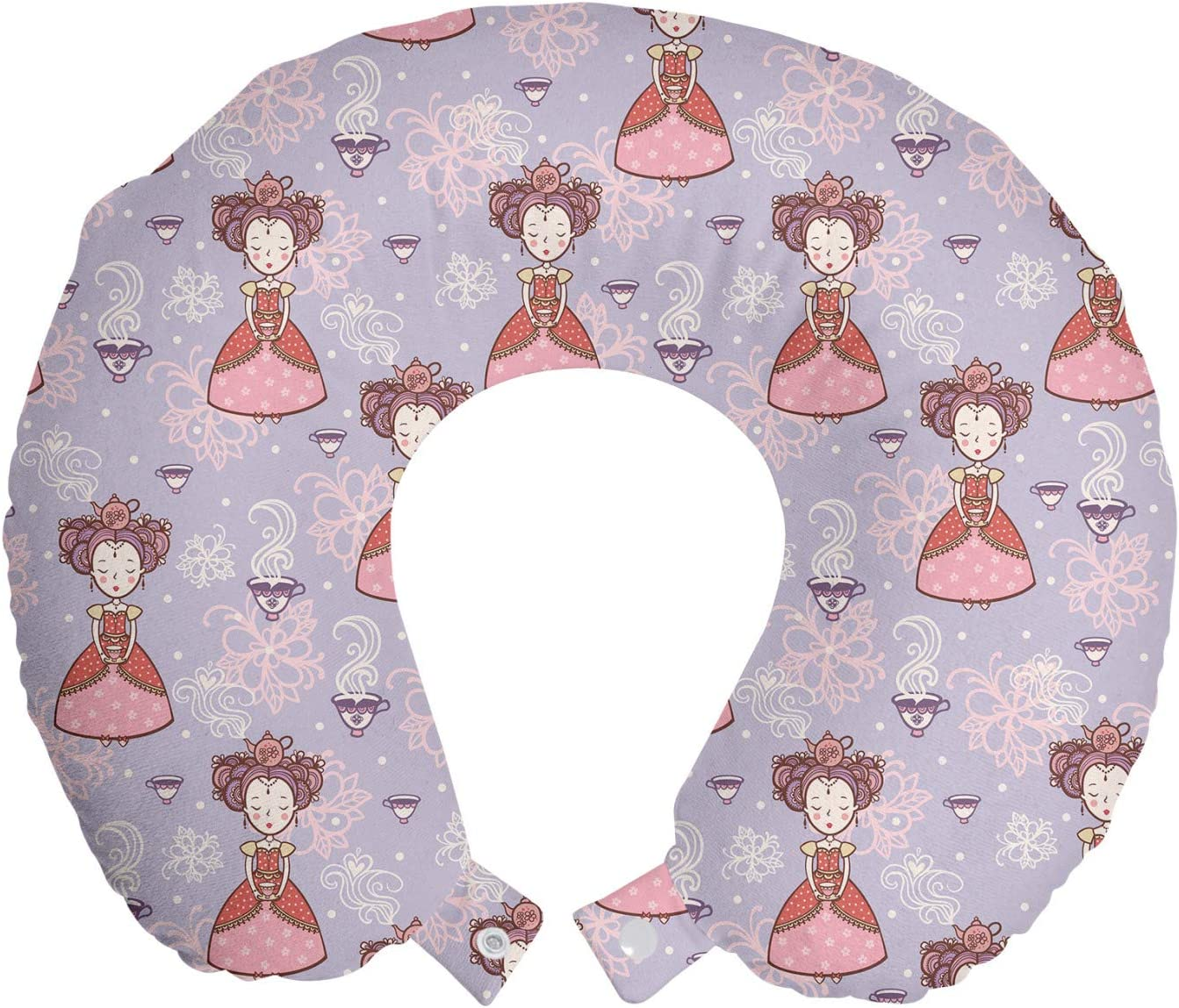 Ambesonne Cartoon Travel Pillow Neck unisex Vintage Rest of Ca Same day shipping Pattern