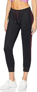 AURIQUE Amazon Brand Women's Side Stripe Cropped Joggers