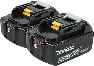 Makita BL1850B-2 18V LXT Lithium-Ion 5.0Ah Battery Twin Pack (Renewed)